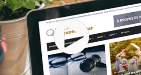 Avant-première : découvrez en vidéo le futur blog du Groupe Investir & Entreprendre